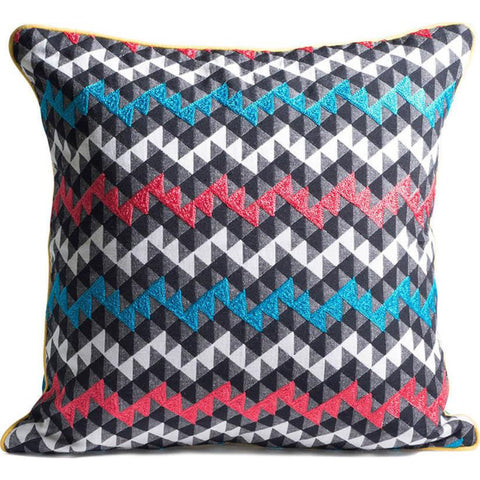 Aesthetic Content Kaleidoscope Woven Graphic Pillow | Multi/Marine 2000184