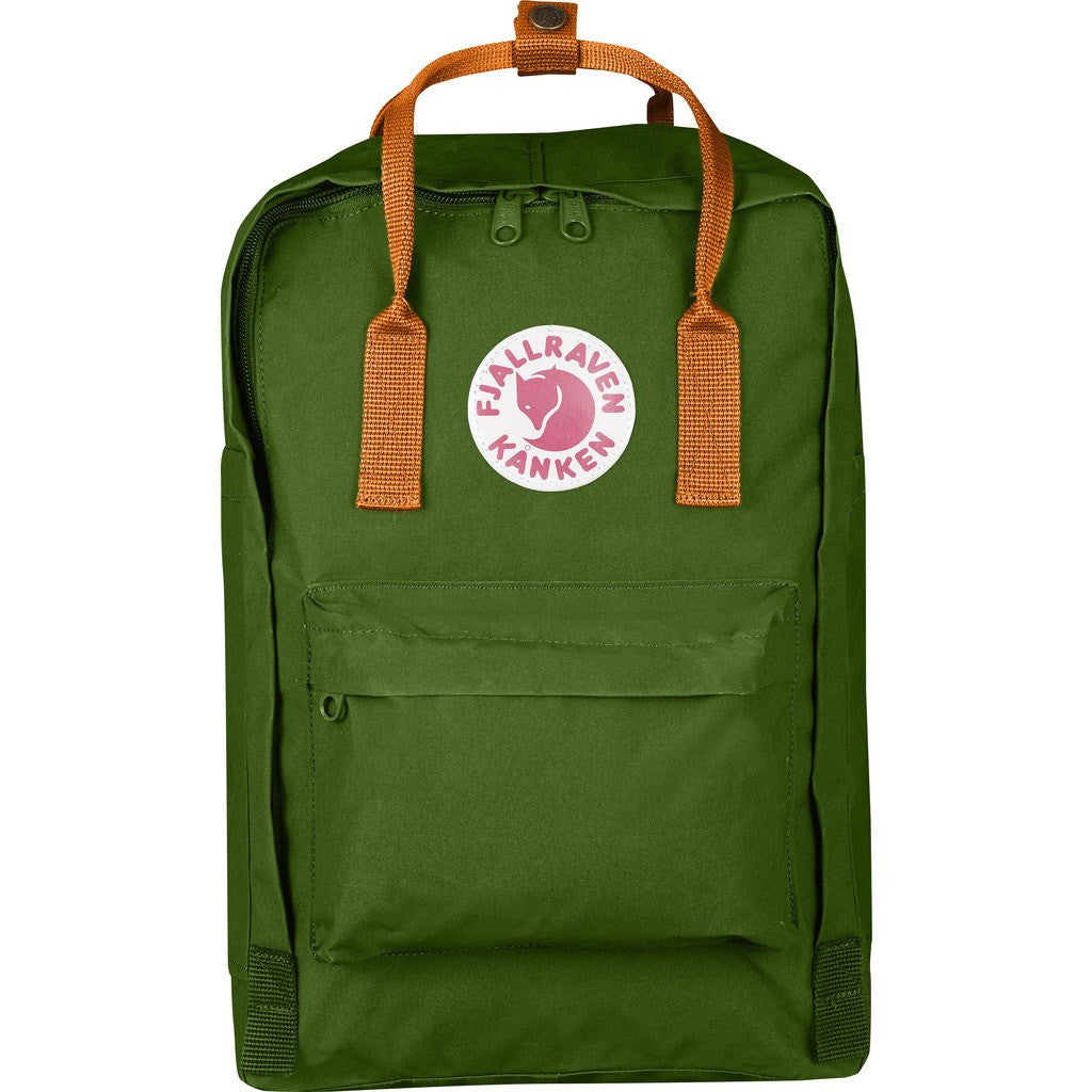Fjallraven Kanken 15 Backpack | Leaf Green - Burnt Orange F27172-615-212