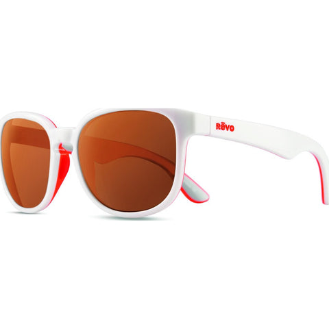 Revo Eyewear Kash White/Coral/Grey Sunglasses | Open Road RE 1028 09 OR