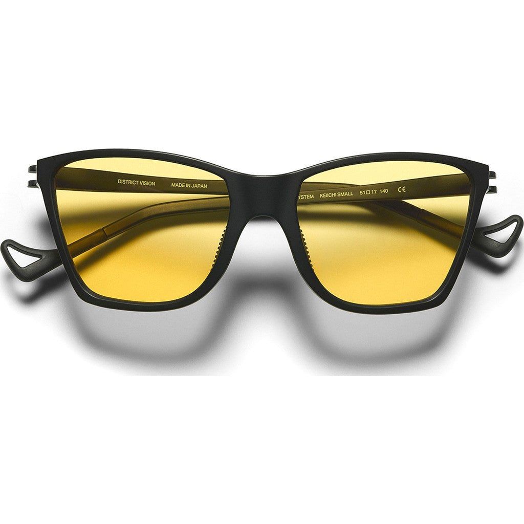District Vision Keiichi Small Black Sunglasses | District Sports Yellow