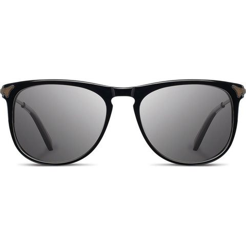 Shwood Keller Acetate Sunglasses | Black - Grey Polarized WAKBGP