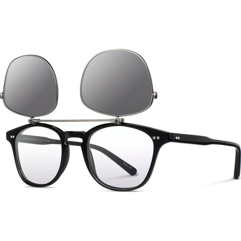 Shwood Kennedy Acetate Sunglasses Flip | Black - Grey Polarized WAK2FBGP