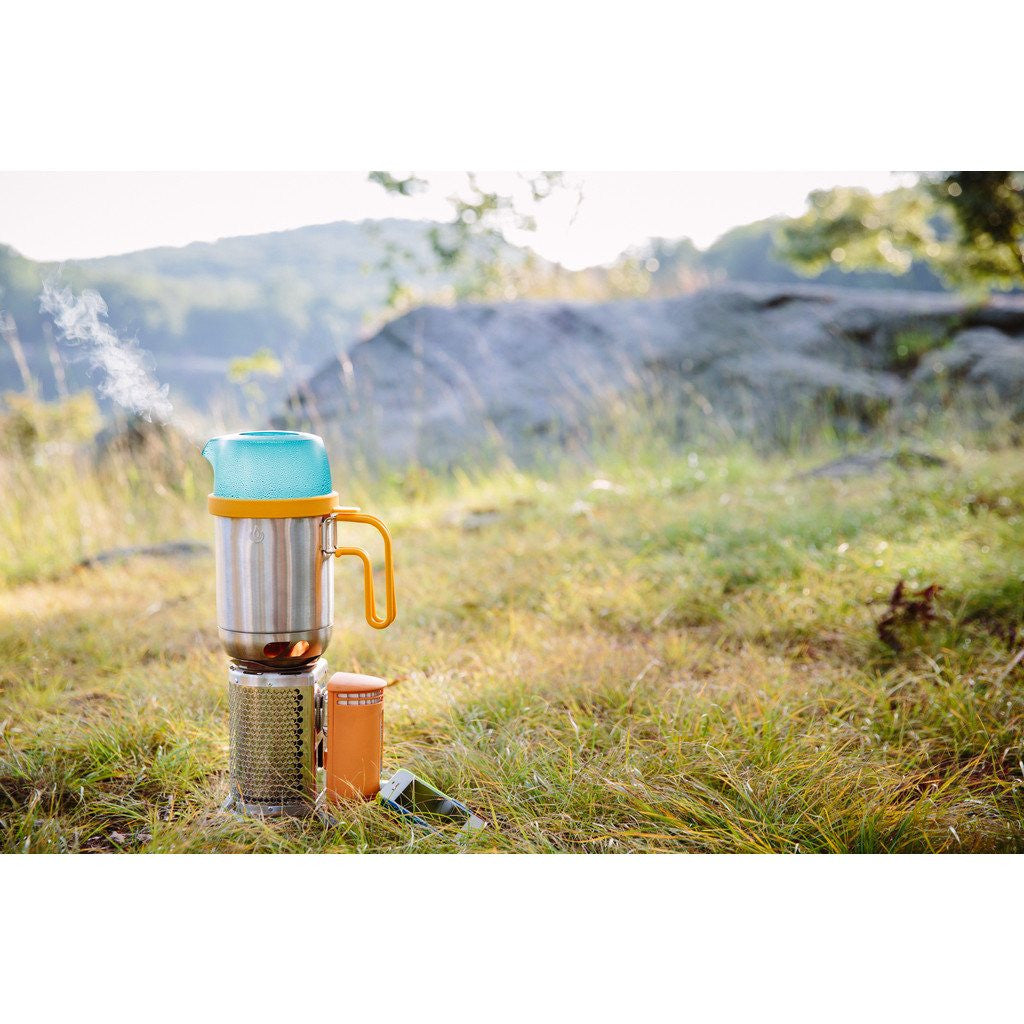 BioLite Grab and Go Kettle Pot | Silver/Blue KPA