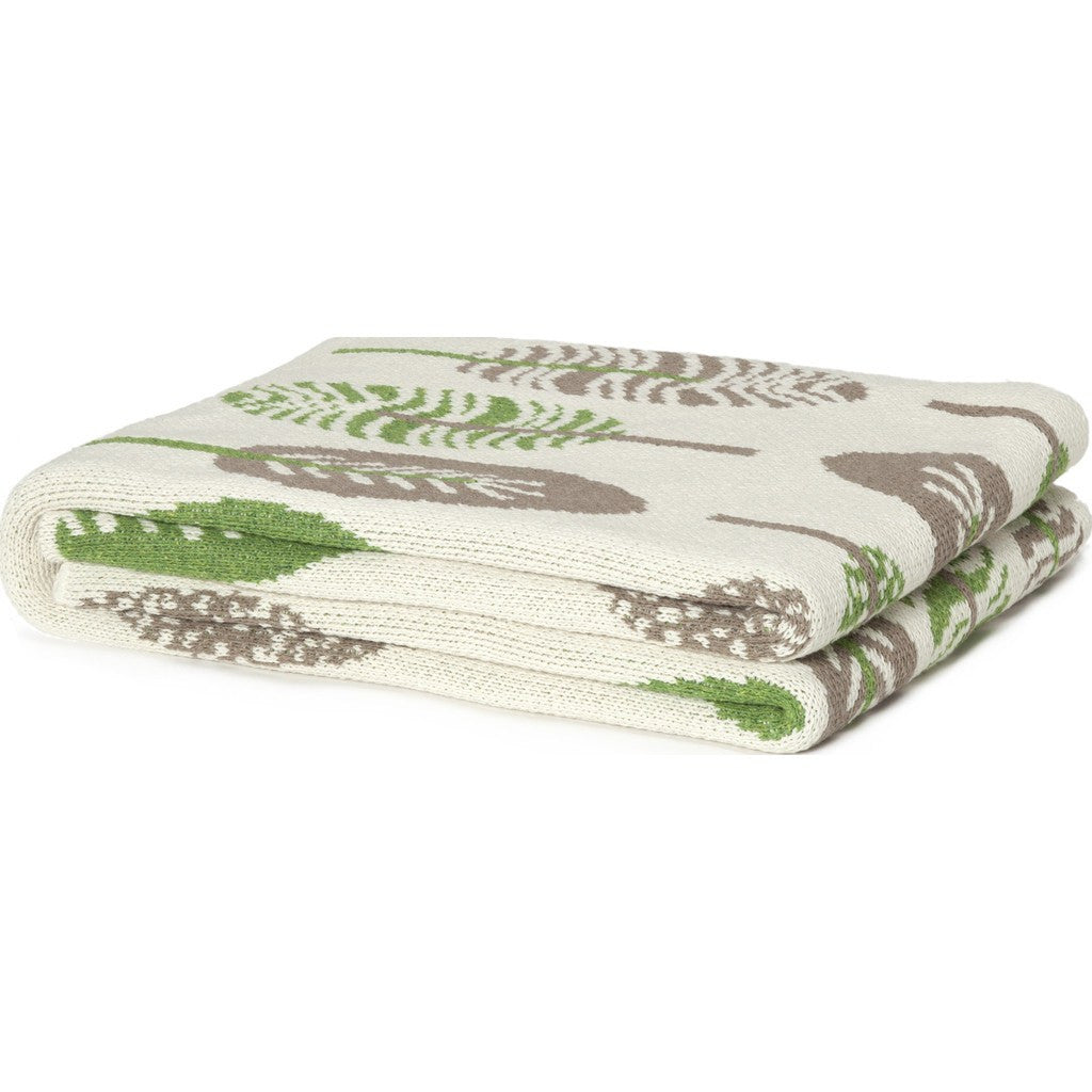 in2green Mod Leaf Eco Throw | Chocolate/Moss BL01ML4