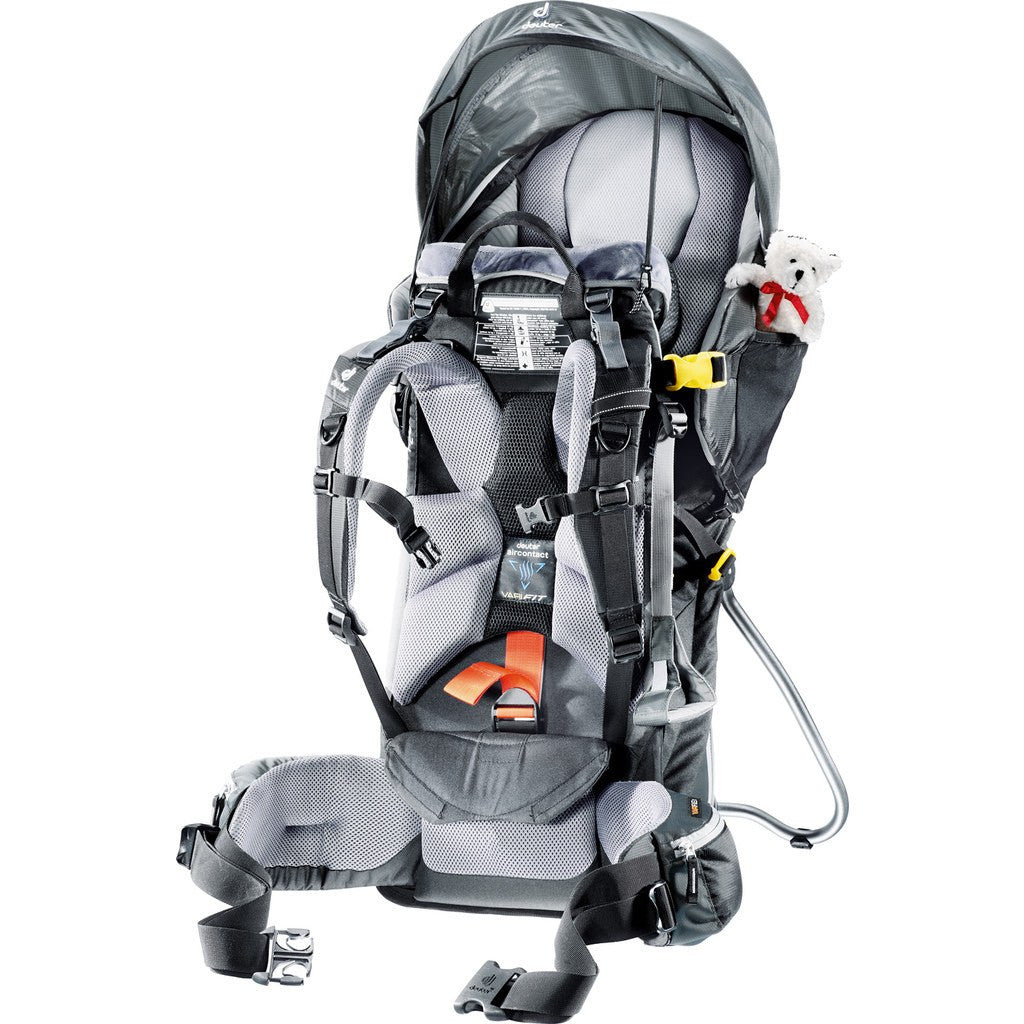 Deuter Kid Comfort 3 Child Carrier Backpack | Black/Granite 46534 74100