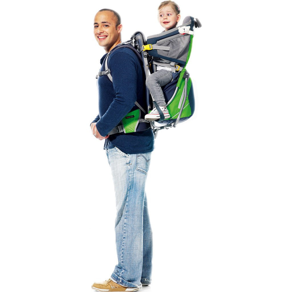 Deuter Kid Comfort Air Child Carrier Backpack | Granite/Emerald 46524 42240