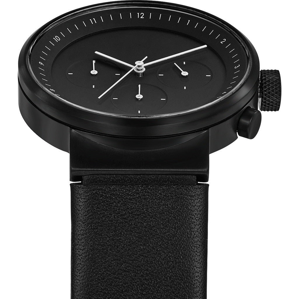 Projects Watches Kiura Chronograph Watch | Black / Leather Band 5160B BL-40