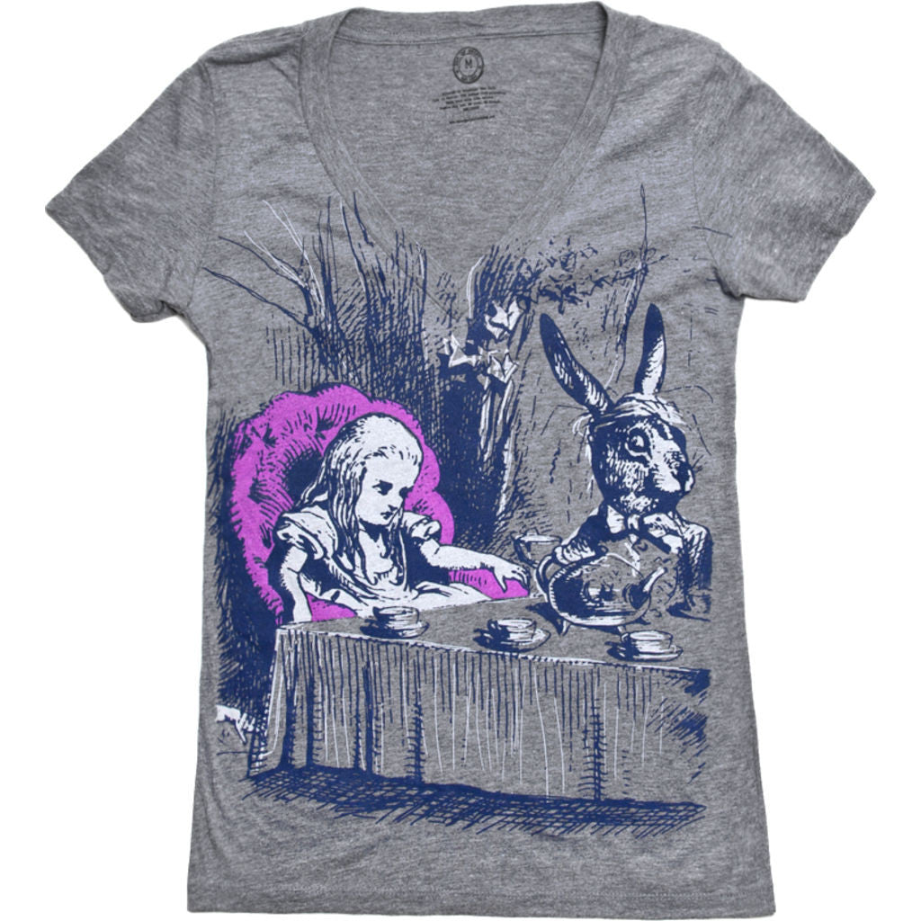 Out of Print Alice in Wonderland Women's T-Shirt | Gray L-1055