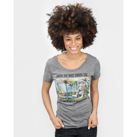 Out of Print Where the Wild Things Are Women's T-Shirt | Gray Small L-1104