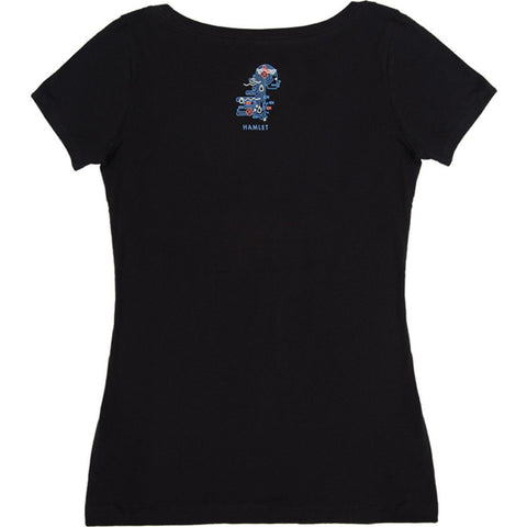 Out of Print Hamlet Women's T-Shirt | Black L-1203