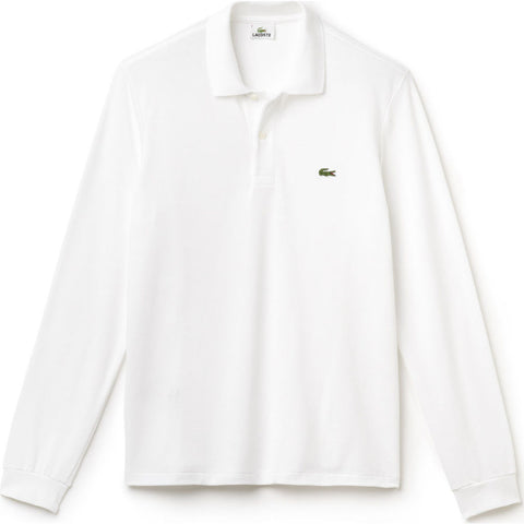 Lacoste Long Sleeve Classic Men's Polo Shirt | White