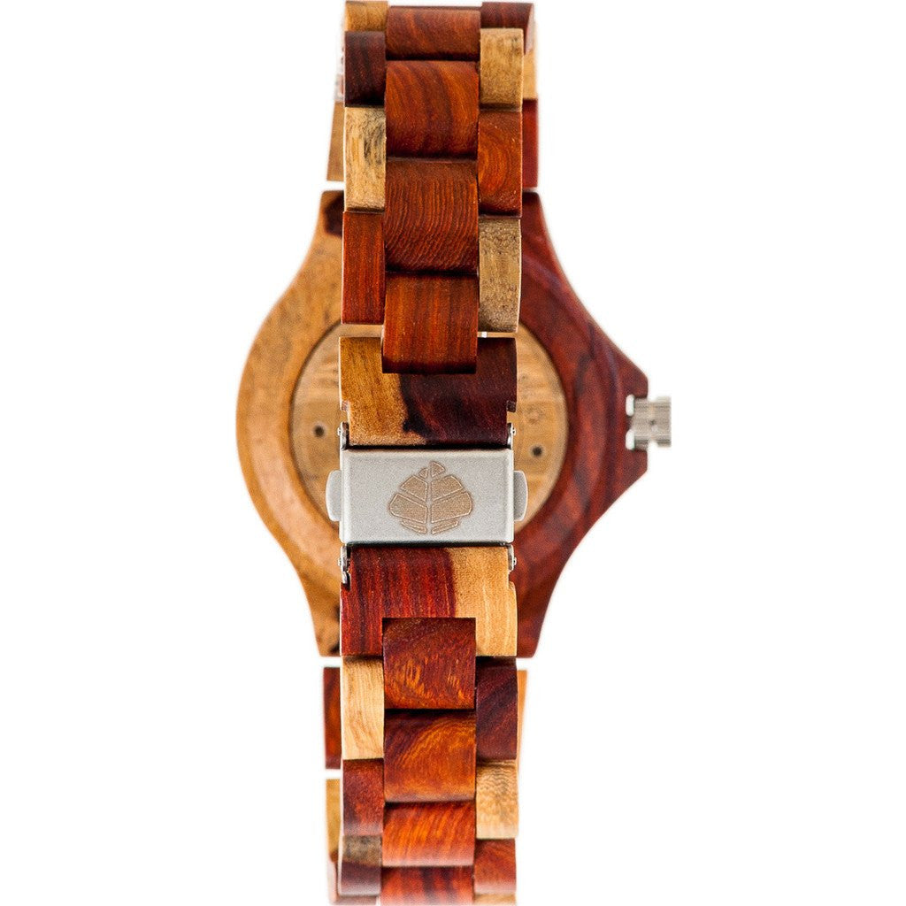 Tense Small Compass Watch | Dual Tone Sandalwood/Rosewood L4100I-BR