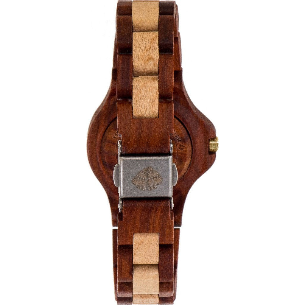 Tense Small Northwest Watch | Rosewood/Maplewood L4300RM-W