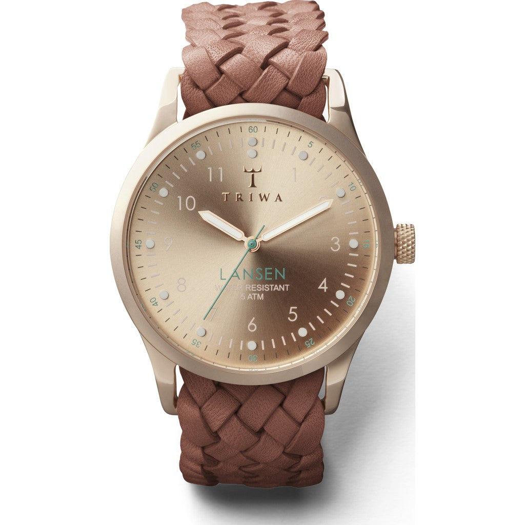 Triwa Rose Lansen Watch | Brown Braided Mono LAST101MB010214