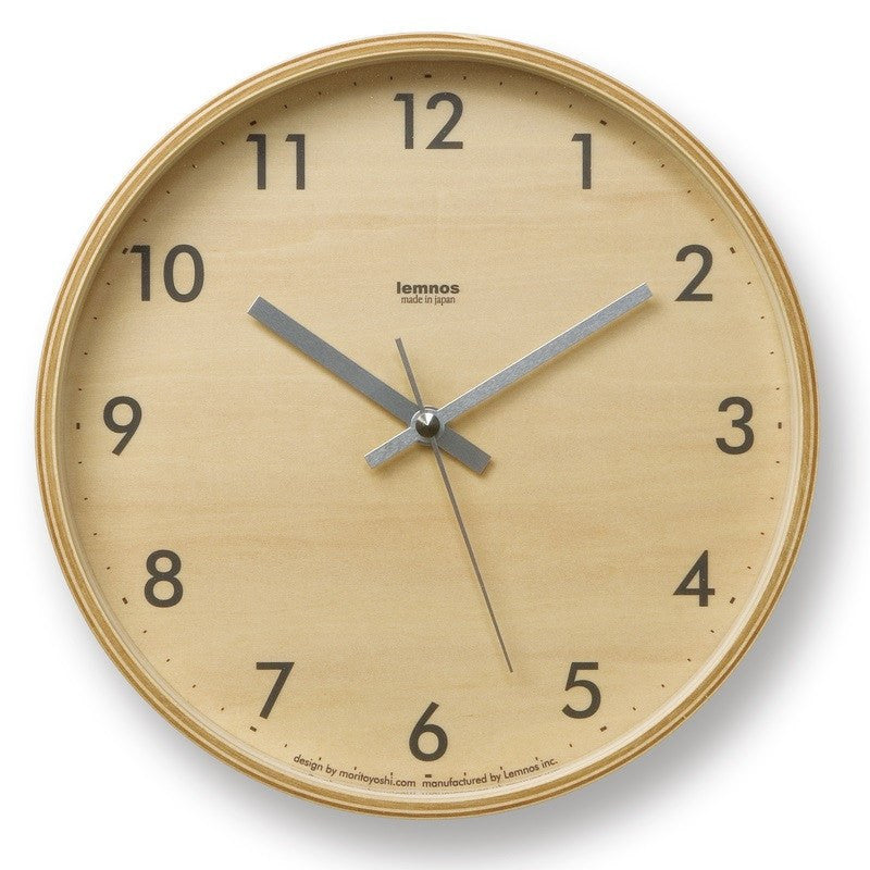 Lemnos Plywood Clock | Gray