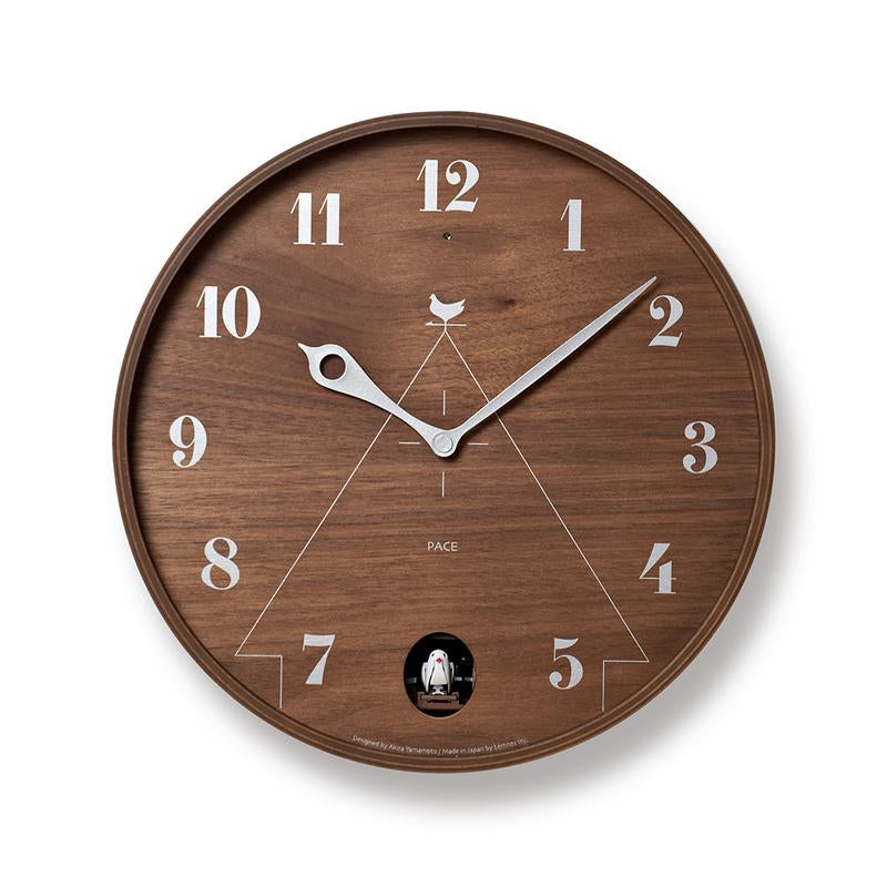 Lemnos Pace Clock brown