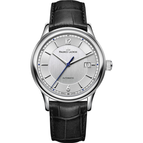 Maurice Lacroix Les Classiques Date 40mm Watch | Grey/Black Leather LC6098-SS001-120-1