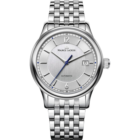 Maurice Lacroix Les Classiques Date 40mm Watch | Grey/Silver LC6098-SS002-120-1