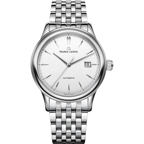 Maurice Lacroix Les Classiques Date 40mm Watch | White/Silver LC6098-SS002-130-1