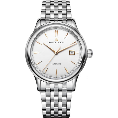 Maurice Lacroix Les Classiques Date 40mm Watch | Silver/Gold Accent LC6098-SS002-131-1