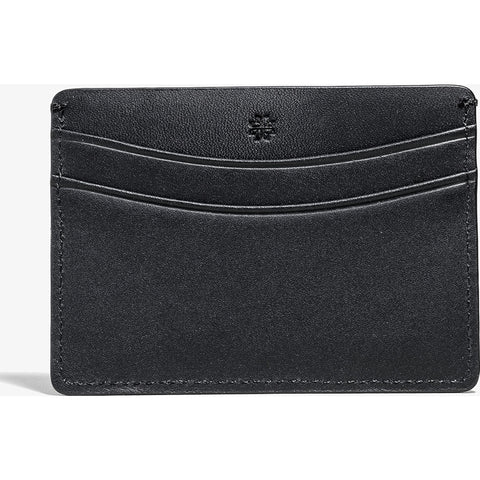 Hook & Albert Smooth Leather Card Holder | Black