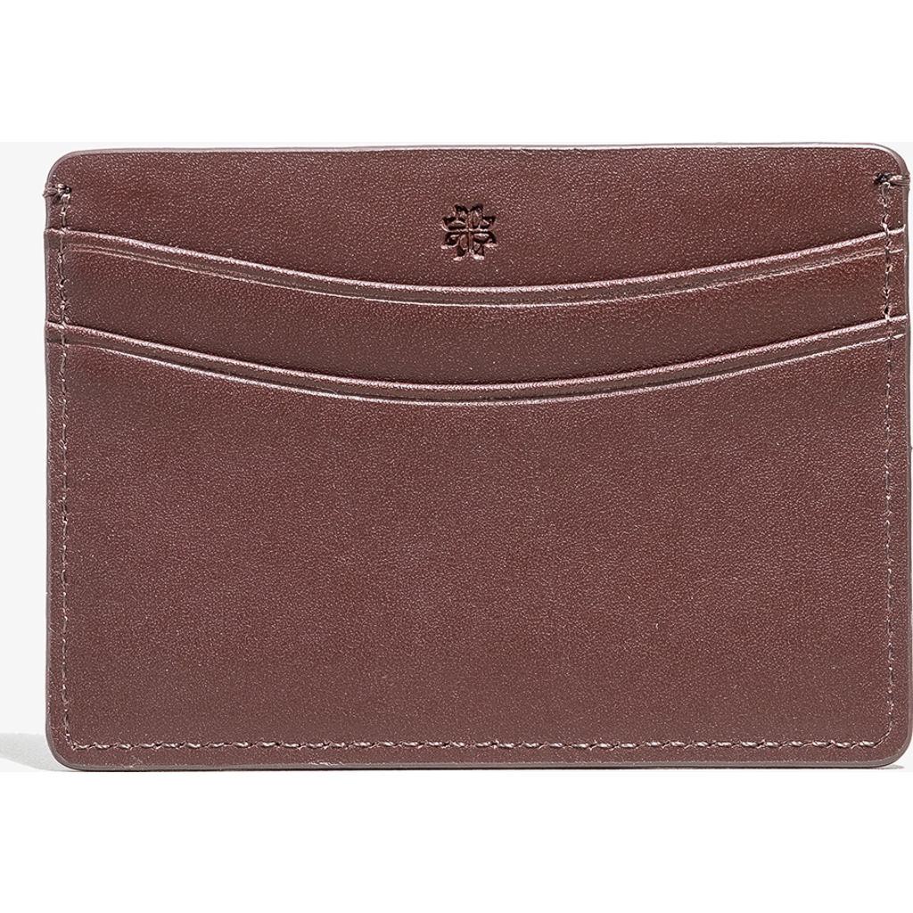 Hook & Albert Smooth Leather Card Holder | Brown