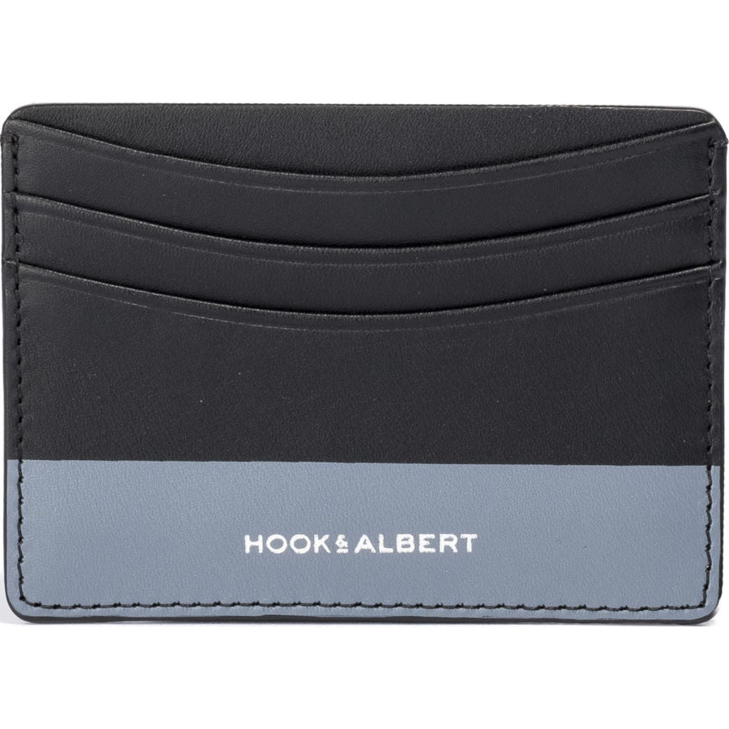 Hook & Albert Color Dipped Card Holder Wallet | Black & Gray LCHCDBLK-GRY-OS