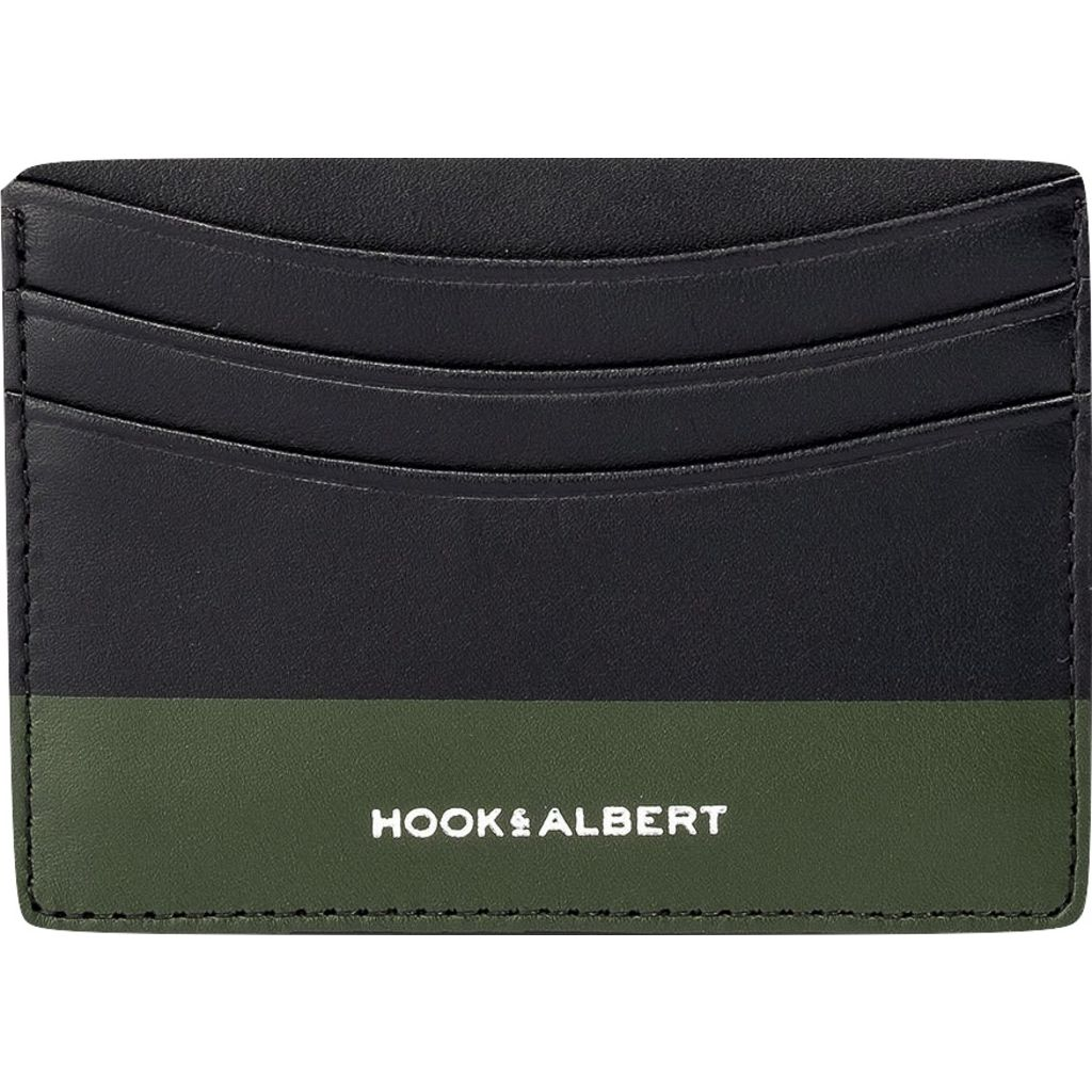 Hook & Albert Leather Cardholder | Black & Olive