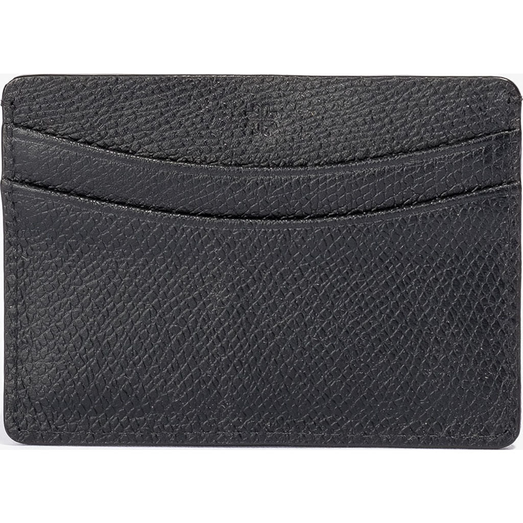 Hook & Albert Pebble Grain Card Holder Wallet | Black LCHPL-BLK-OS