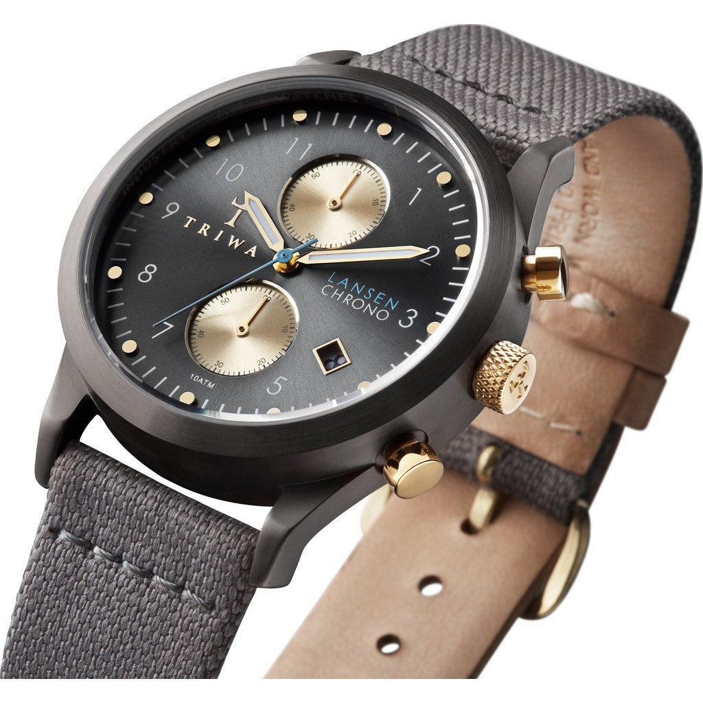 Triwa Walter Lansen Chrono Watch | Gray Canvas Classic LCST101CL061613