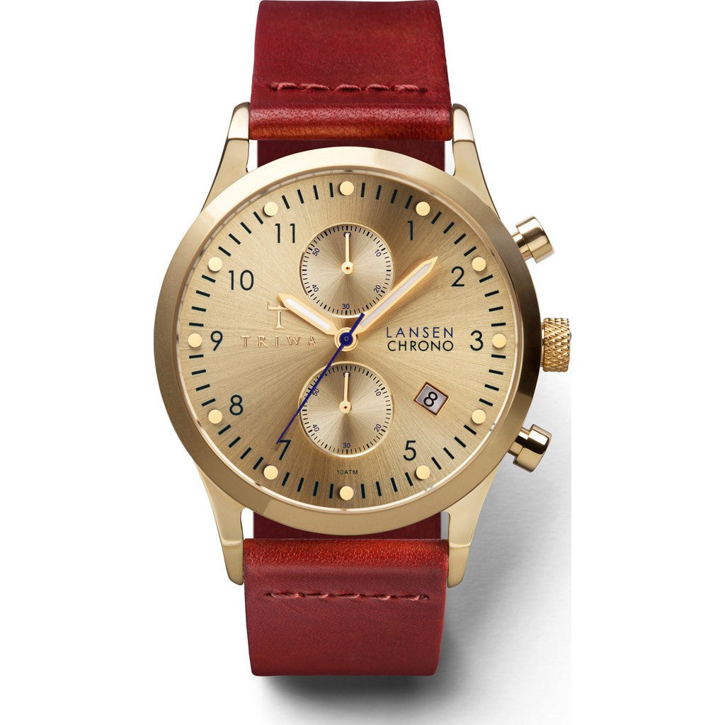 Triwa Gold Lansen Chrono Watch | Cognac Classic LCST103CL012913