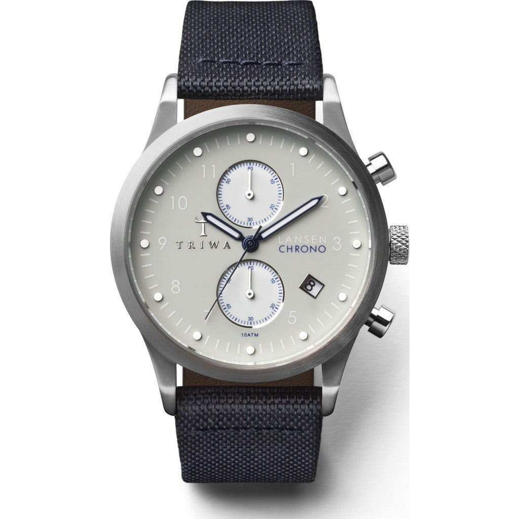 Triwa Shade Lansen Chrono Watch | Navy Canvas Classic LCST111CL060912