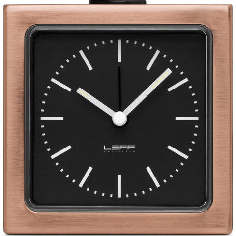LEFF Amsterdam Block Wall/Desk Alarm Clock | Copper/Black Index