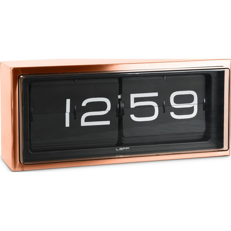LEFF Amsterdam Brick Wall/Desk Clock | Copper/Black