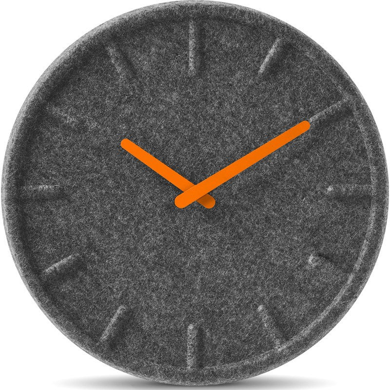 LEFF Amsterdam Felt35 Felt Wall Clock | Orange