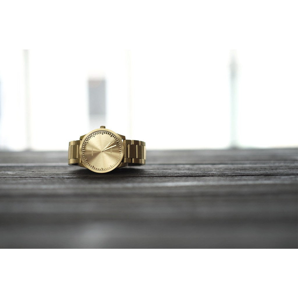 LEFF Amsterdam S38 Tube Watch | Brass LT71105