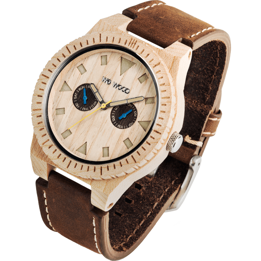 WeWood Leo Beige Wood Watch | Maple/Leather