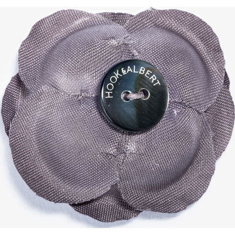 Hook & Albert Mahal Large Buttercup Lapel Flower | Gray LFBSL15F-GRY-OS