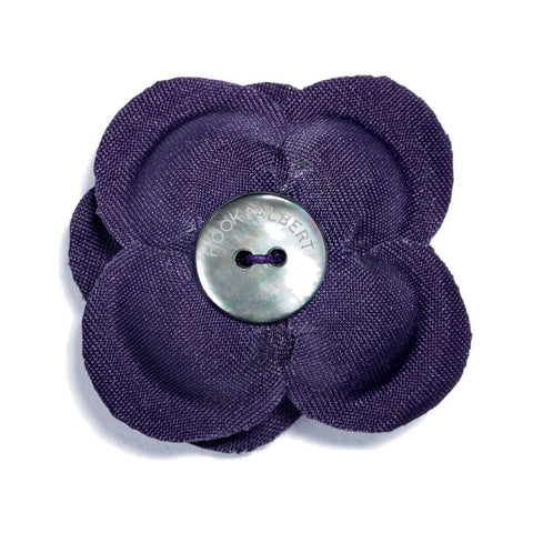Hook & Albert Catacombs Large Buttercup Lapel Flower | Purple LFBSL15F-PRPL-OS