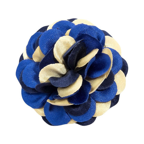 Hook & Albert Marigold Lapel Flower | Blue
