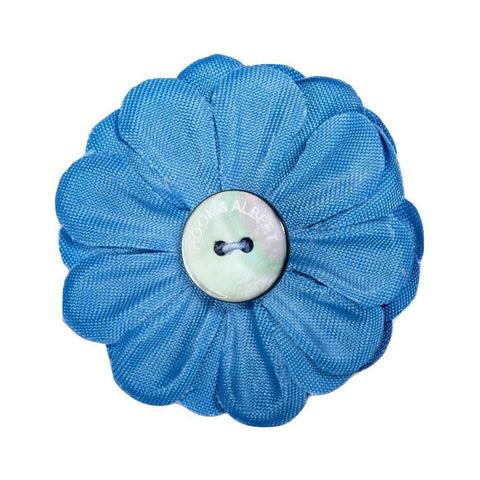Hook & Albert Light Blue Large Lapel Flower | Blue LFSDF-LBLU-OS
