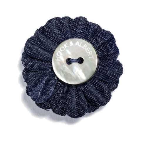 Hook & Albert Small Lapel Flower | Navy LFSSD-NVY-OS