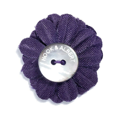 Hook & Albert Small Lapel Flower | Purple LFSSD-PRPL-OS