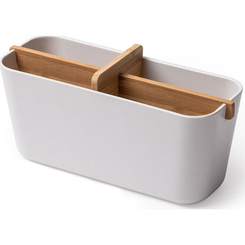 Lexon Zen Large Cup Bathroom Organizer | White