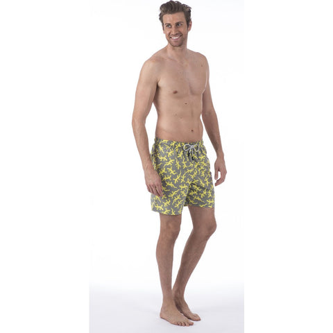 Tom & Teddy Lizard Swim Trunk | Slate Size M