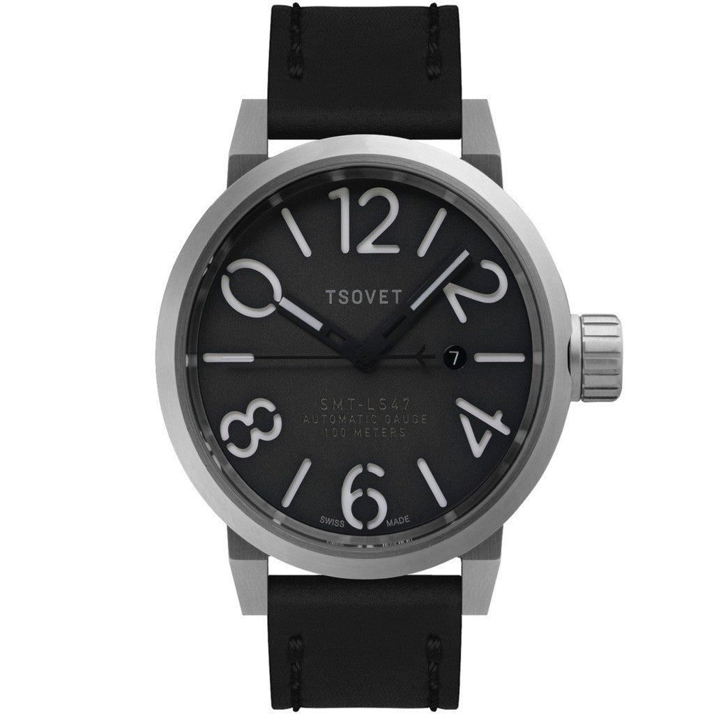 Tsovet SMT-LS47 Steel & Gray Automatic Watch | Black LS111710-45A