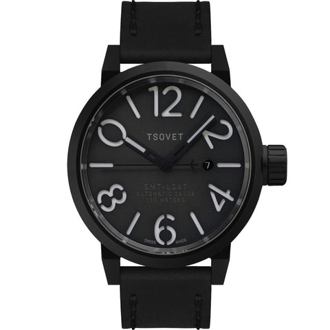 Tsovet SMT-LS47 Black & Grey Automatic Watch | Black LS331710-45A
