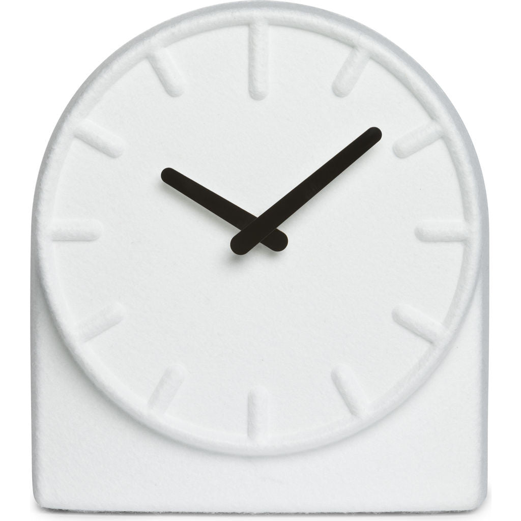 LEFF amsterdam Felt Table Clock | White/Black