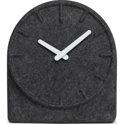 LEFF Amsterdam Felt Table Clock | Grey/White