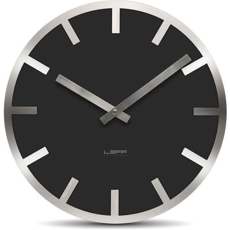 Leff Metev Wall Clock | Black